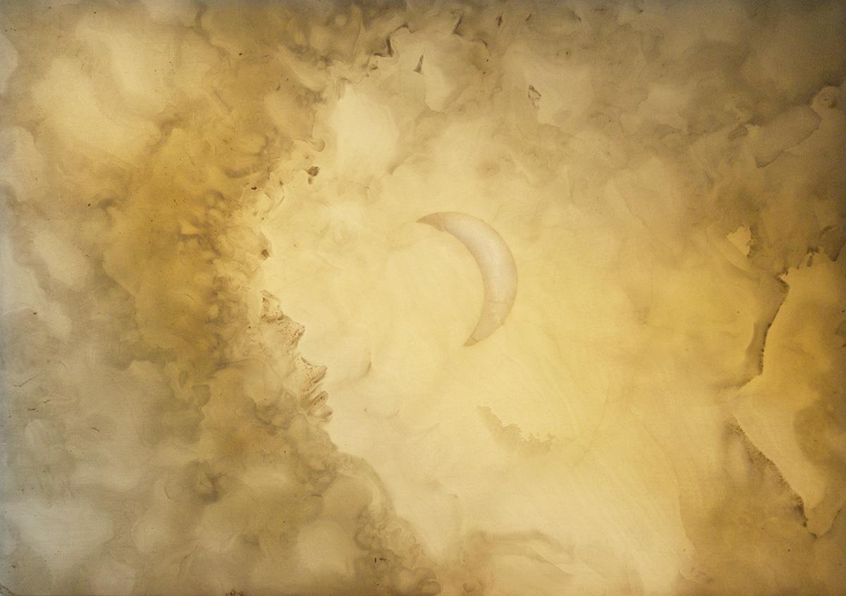'Alabaster moon', daytime. Pakistan Onyx Marble, 43cm x 33cm, 2007
