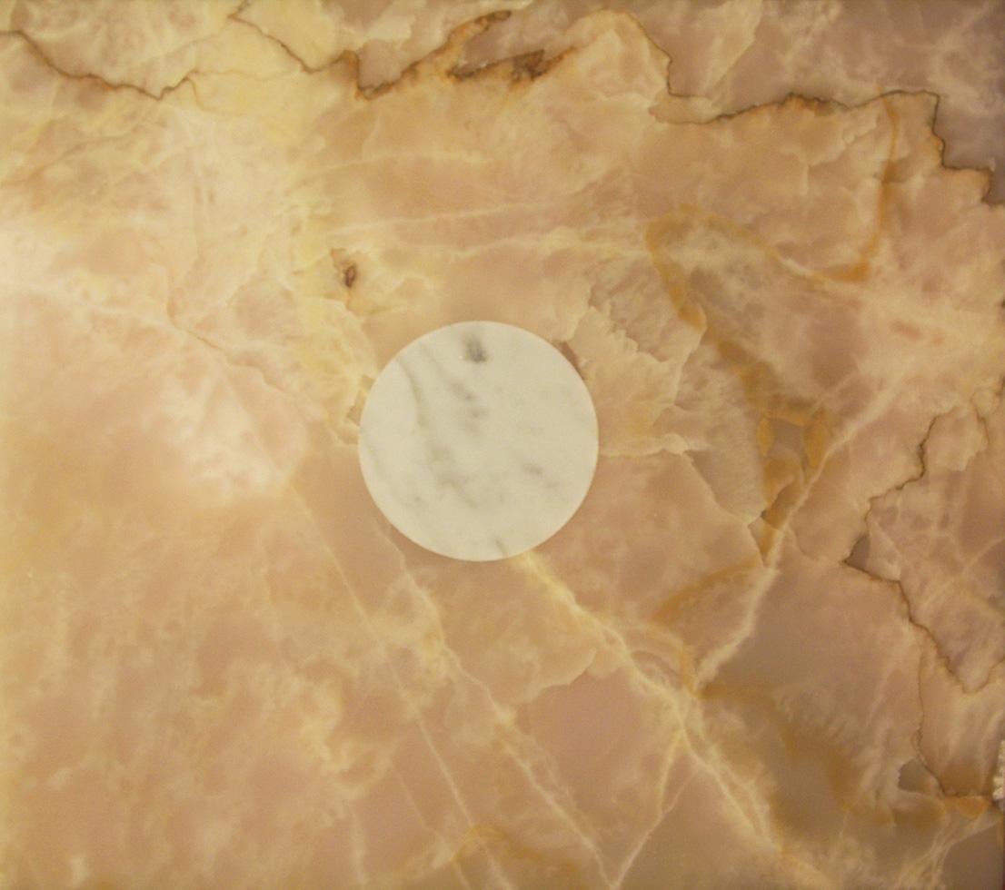 'Full moon', daytime. Cararra Marble Moon, Pakistan Onyx, 2004